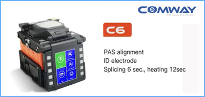 COMWAY C6 fusion splicer